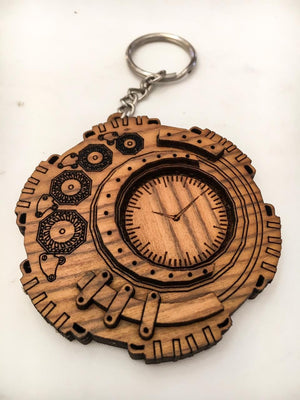 Set of 5 Mandal - Punk Keyrings | Qreative Qick Keychains | Wooden Keychains