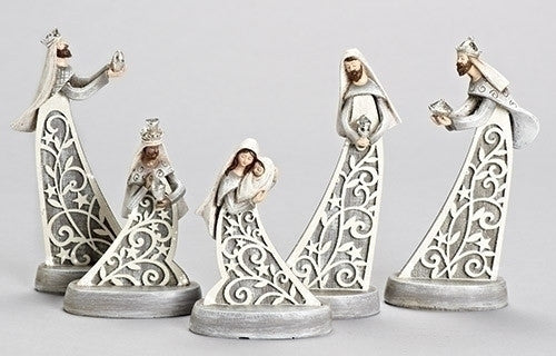 Lazer Wood Look Nativity Set