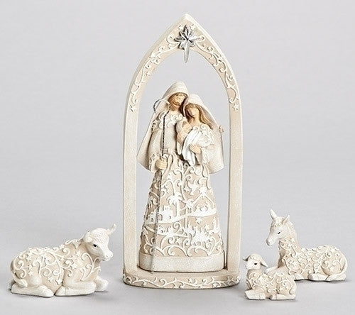 White Paper Cut Collection Nativity Set