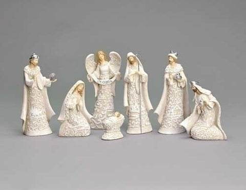Paper Cut Style Nativity Set with Angel