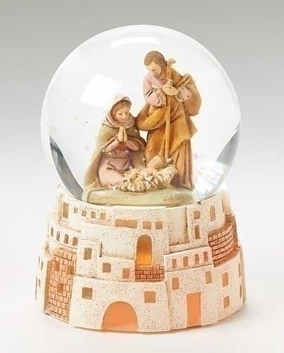 Holy Family Glitter Crystal Ball