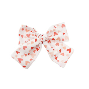 Scattered Hearts Hair Bow