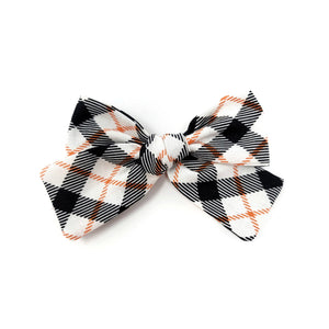 Halloween Plaid Hair Bow