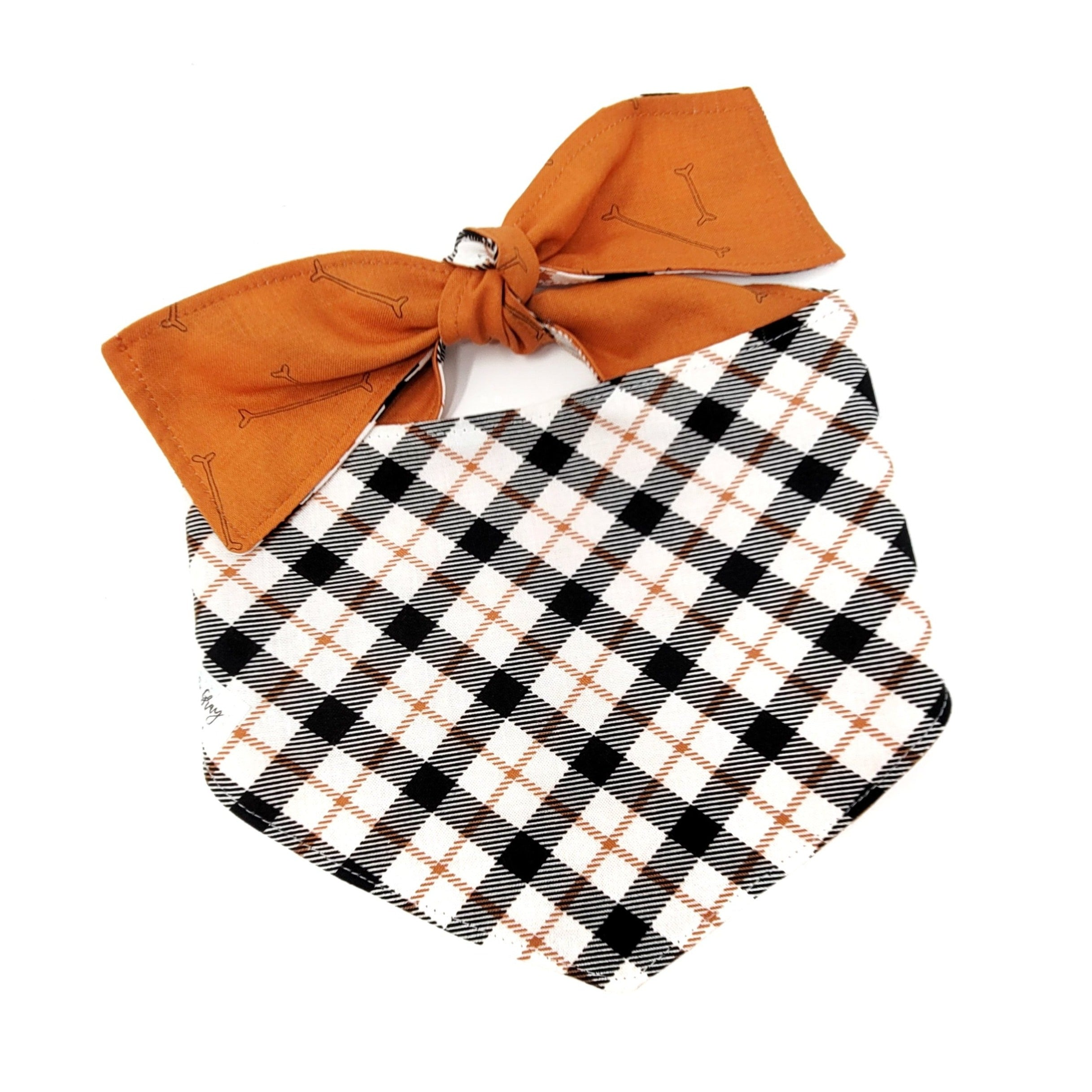 Halloween Plaid Dog Bandana