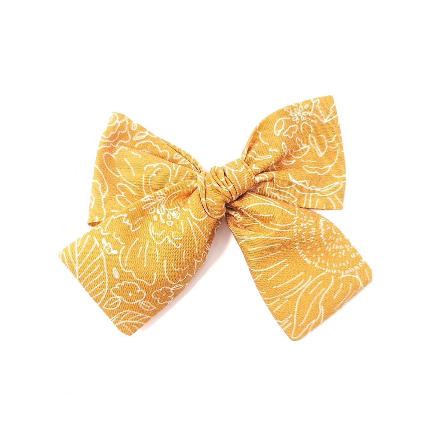 Golden Sunflower Hair Bow
