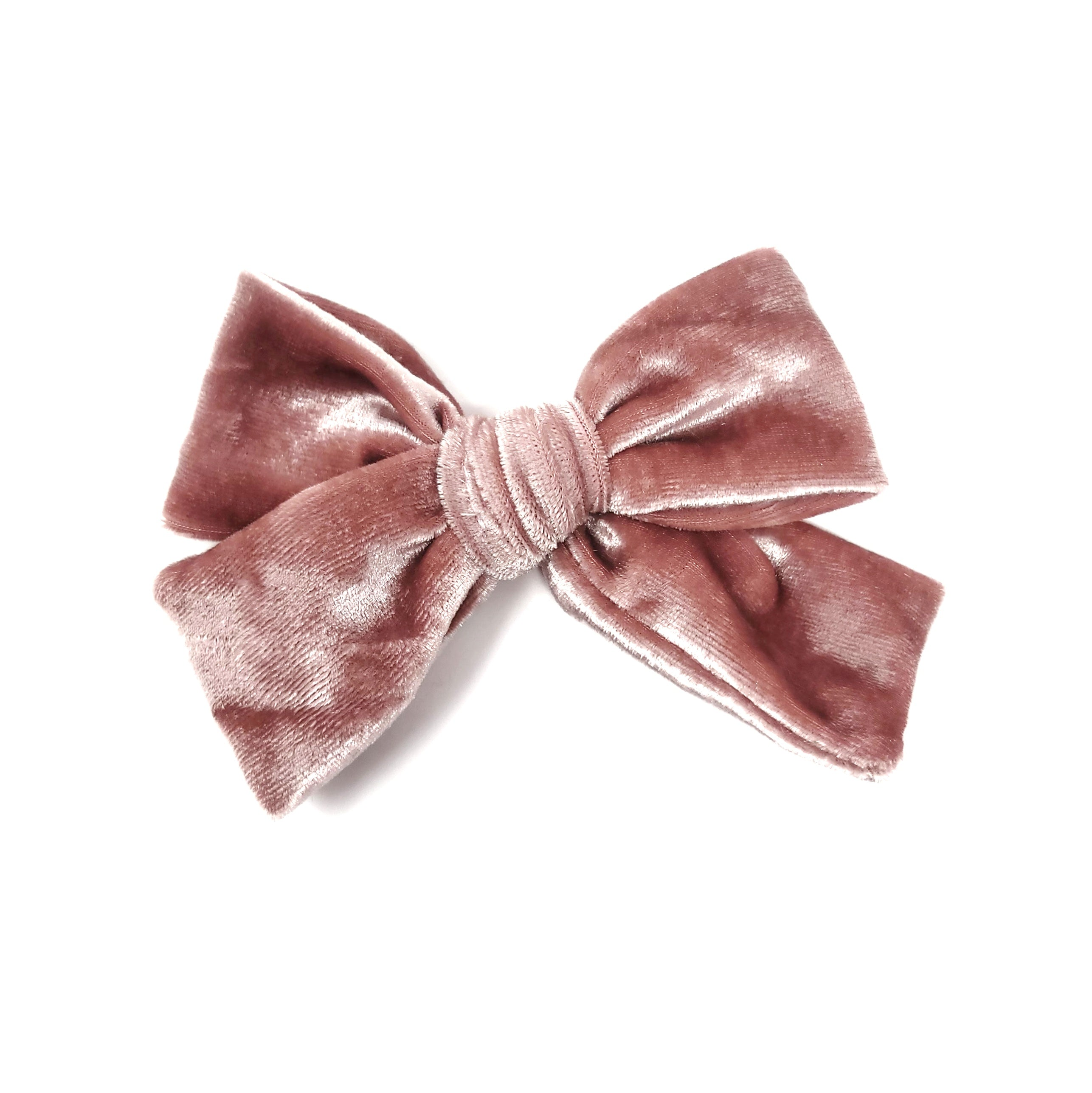 Blush Velvet Hair Bow