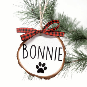 Custom Paw-liday Ornament