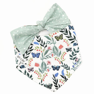Butterfly Blossom Tie On Bandana