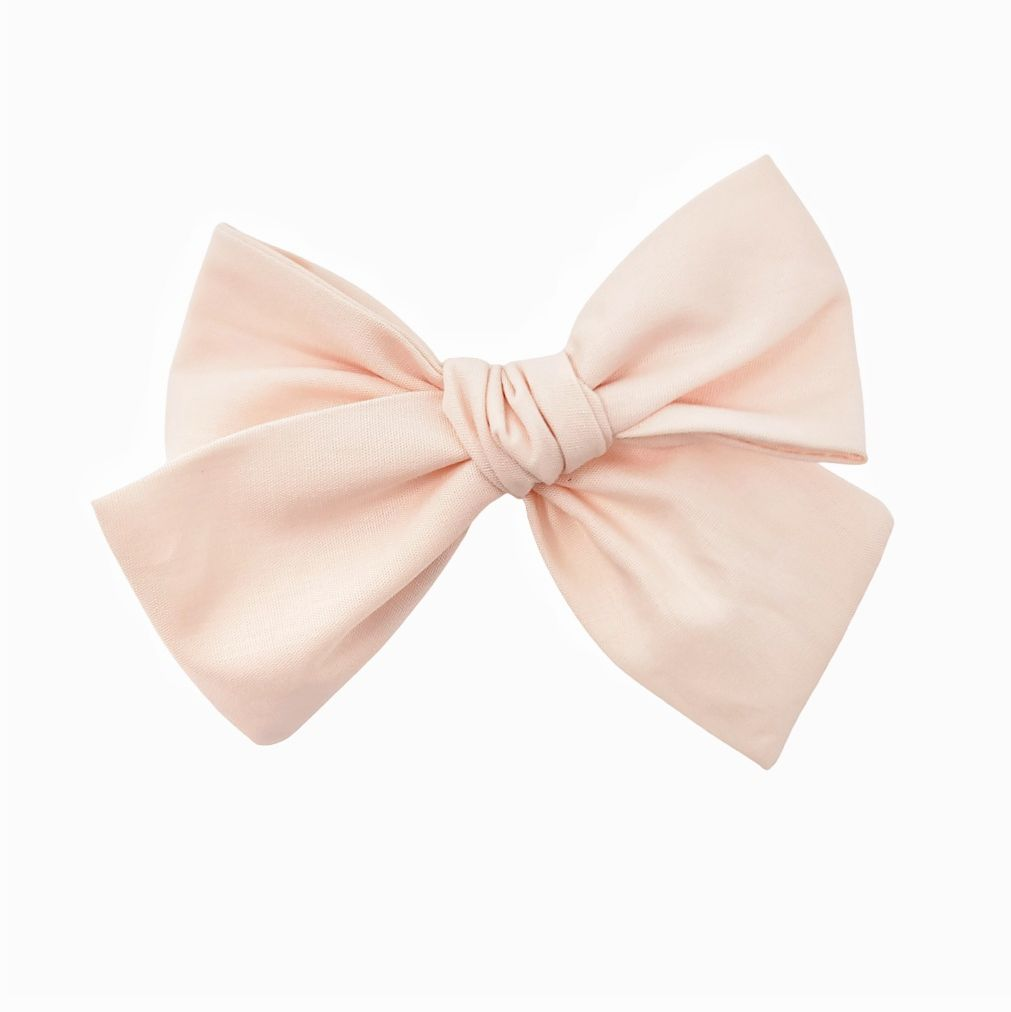 Solid Nude Blush Hair Bow