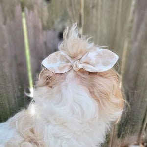 Tan Leopard Knot Hair Bow