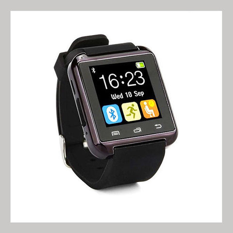 Black Bluetooth Activity Silicone Smart Watch