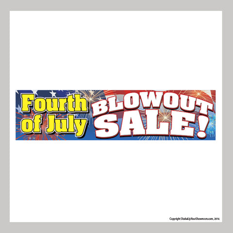 Fourth of July Blowout Sale Vinyl Banner