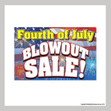 "11"" x 17"" promotional poster for fourth of july sale"
