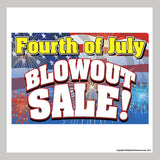 "24"" x 36"" promotional poster for fourth of july sale"