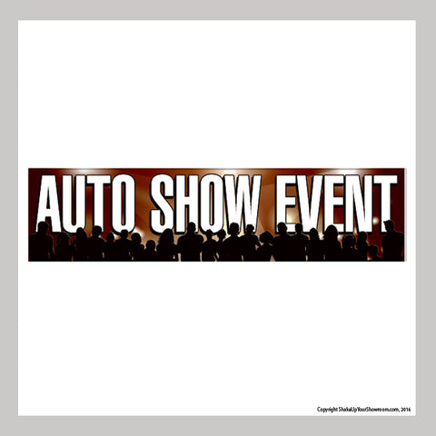 Auto Show Event promotional car dealership Vinyl Banner