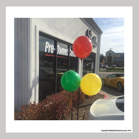 helium-free reusable balloon cluster kit for car dealerships