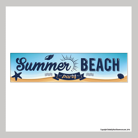 summer beach party promotional car dealership vinyl banner
