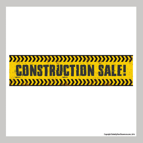 construction sale promotional car dealership vinyl banner