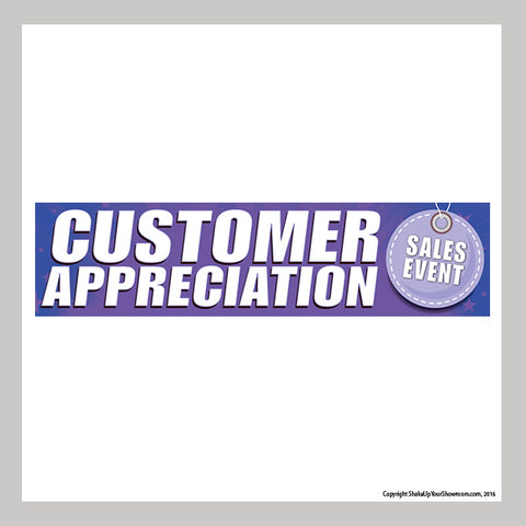 customer appreciation sales event promotional car dealership vinyl banner