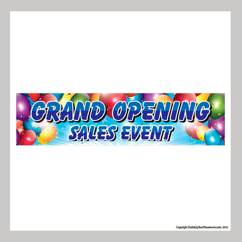 grand opening sales event promotional car dealership vinyl banner