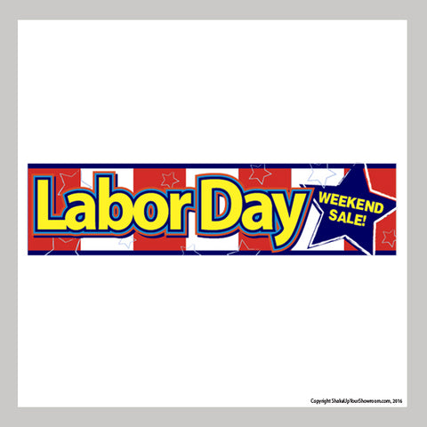 labor day weekend sale promotional car dealership vinyl banner