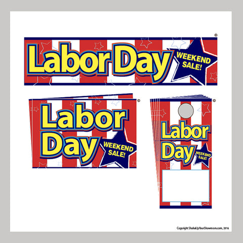 labor day weekend sale promotional car dealership display kit