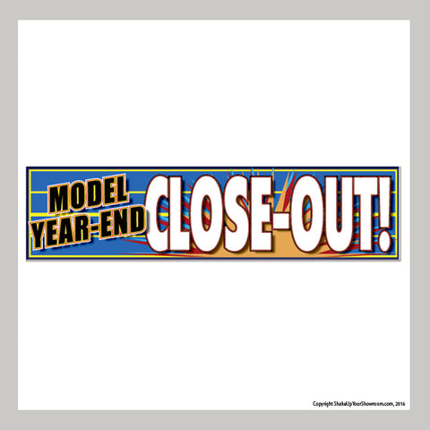 Model Year-End Closeout Sale Vinyl Banner