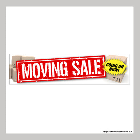 moving sale promotional car dealership vinyl banner