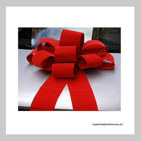 red velvet holiday Giant car bow