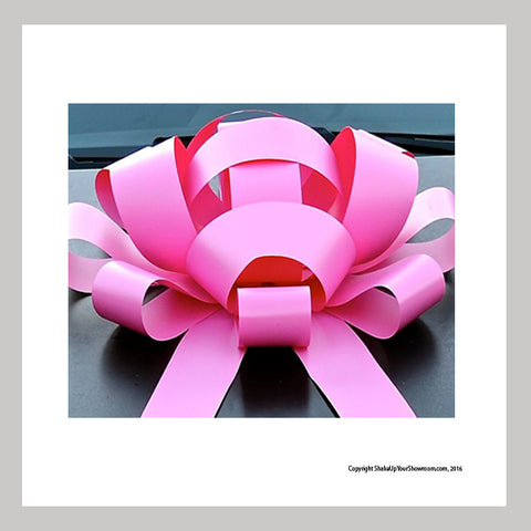 Pink Jumbo Car Bows - Set of 2
