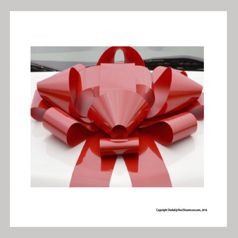 Red Jumbo Car Bow