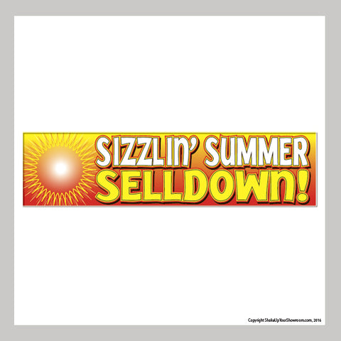 Sizzlin' Summer Selldown Vinyl Banner