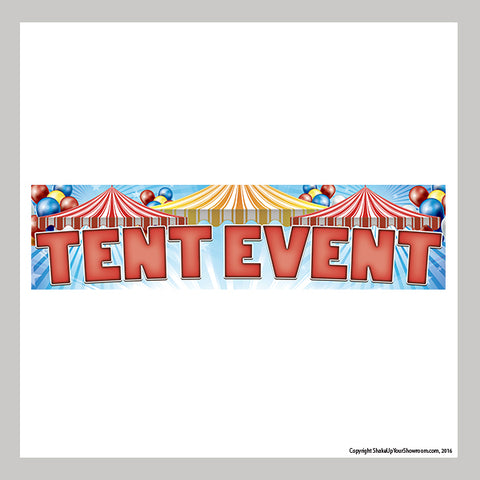 tent event car dealership promotional vinyl banner