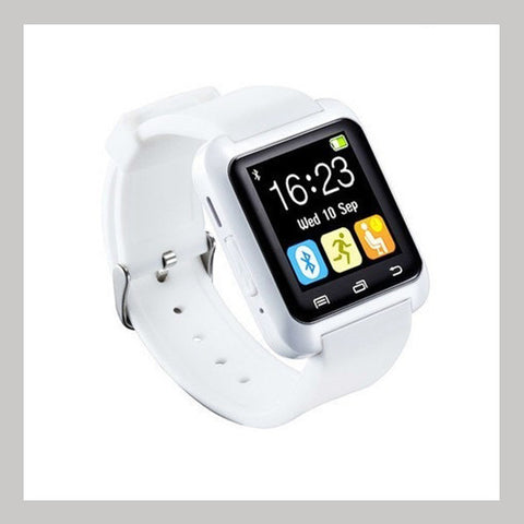 White Bluetooth Activity Silicone Smart Watch