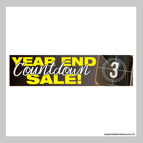 year end countdown sale promotional car dealership vinyl banner