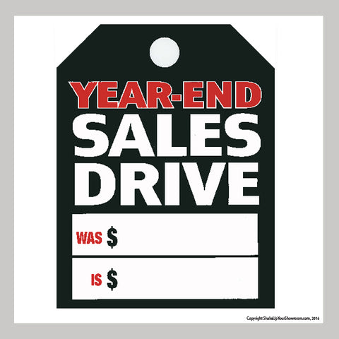 Year-End Sales Drive Promotional Car Dealership Price Hang Tag
