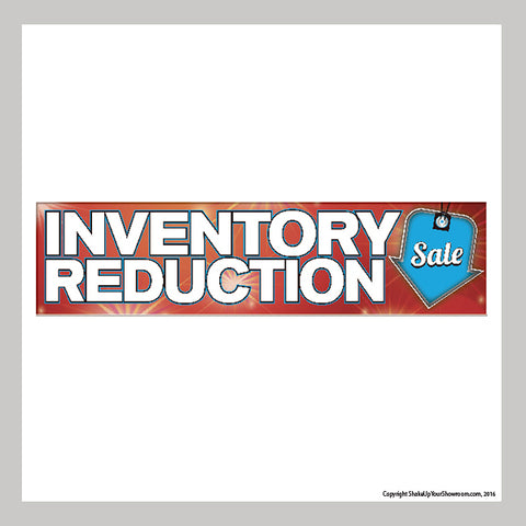 Inventory Reduction Promotional Car Dealership Vinyl Banner