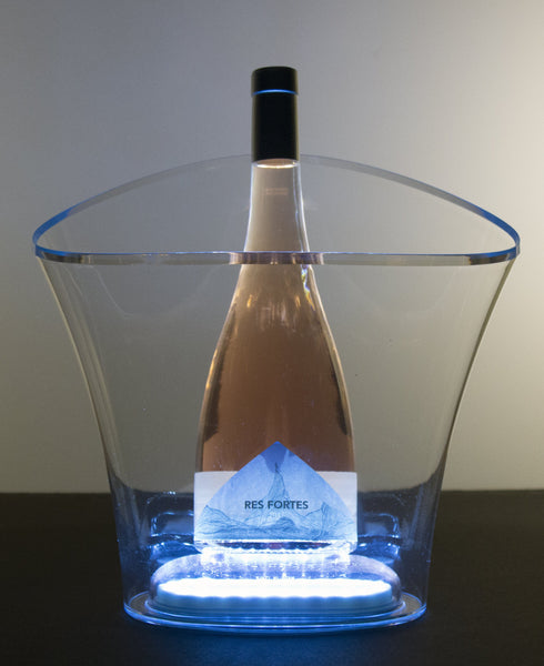 Vela Ice Bucket Clear with LED base