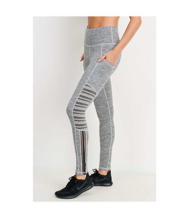 Woven and Trellis with Infinity Mesh Combo Highwaist Leggings