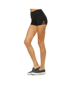 Criss Cross Performance Shorts Black