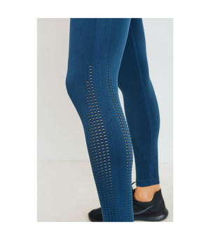 Cascade Wrap Seamless Highwaist Leggings Teal Blue