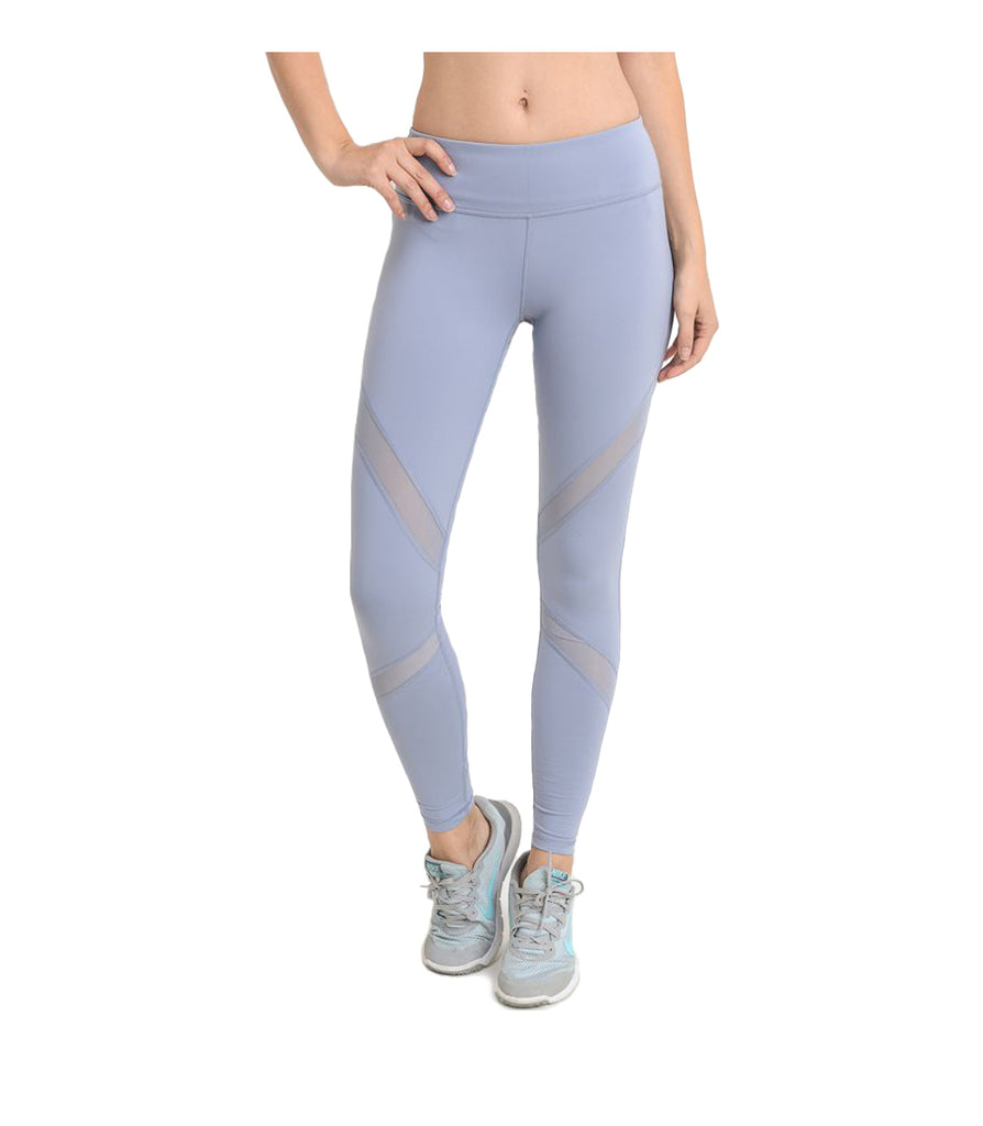 Mesh Performance Leggings Blue