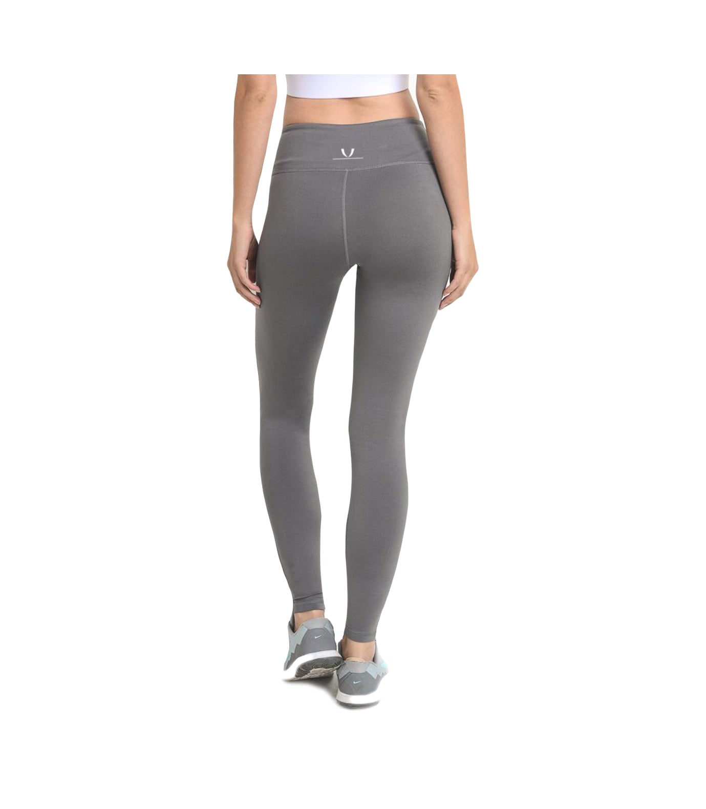 Block Mesh Performance Leggings Grey