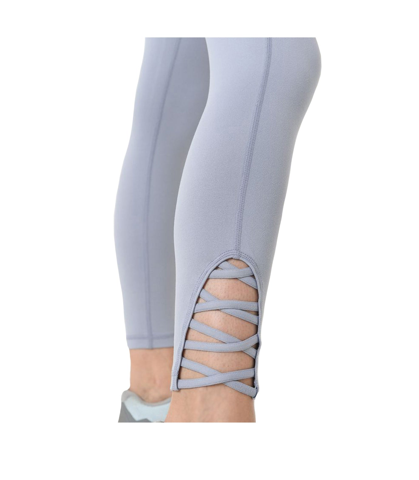 Criss Cross Performance Leggings Sky Blue