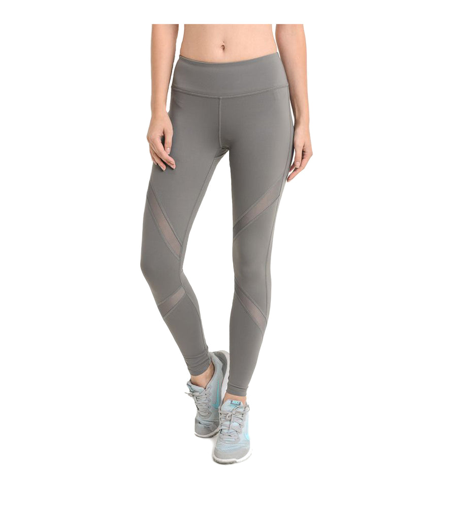 Mesh Performance Leggings Grey