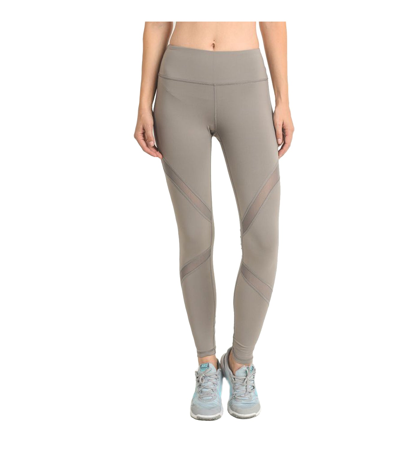 Mesh Performance Leggings Mocha