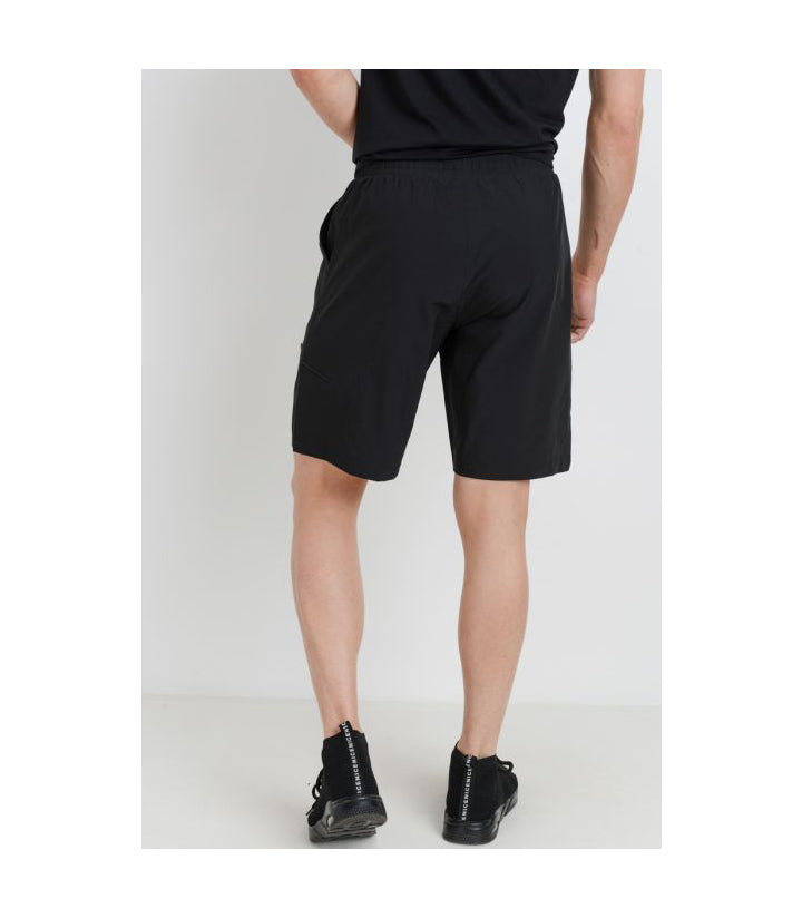 Men's Active Drawstring Shorts Black (PREORDER)