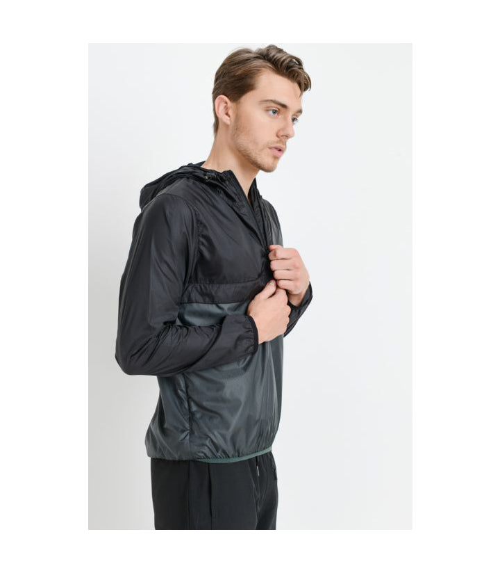 Tactical Pullover Split Jacket Black/Olive