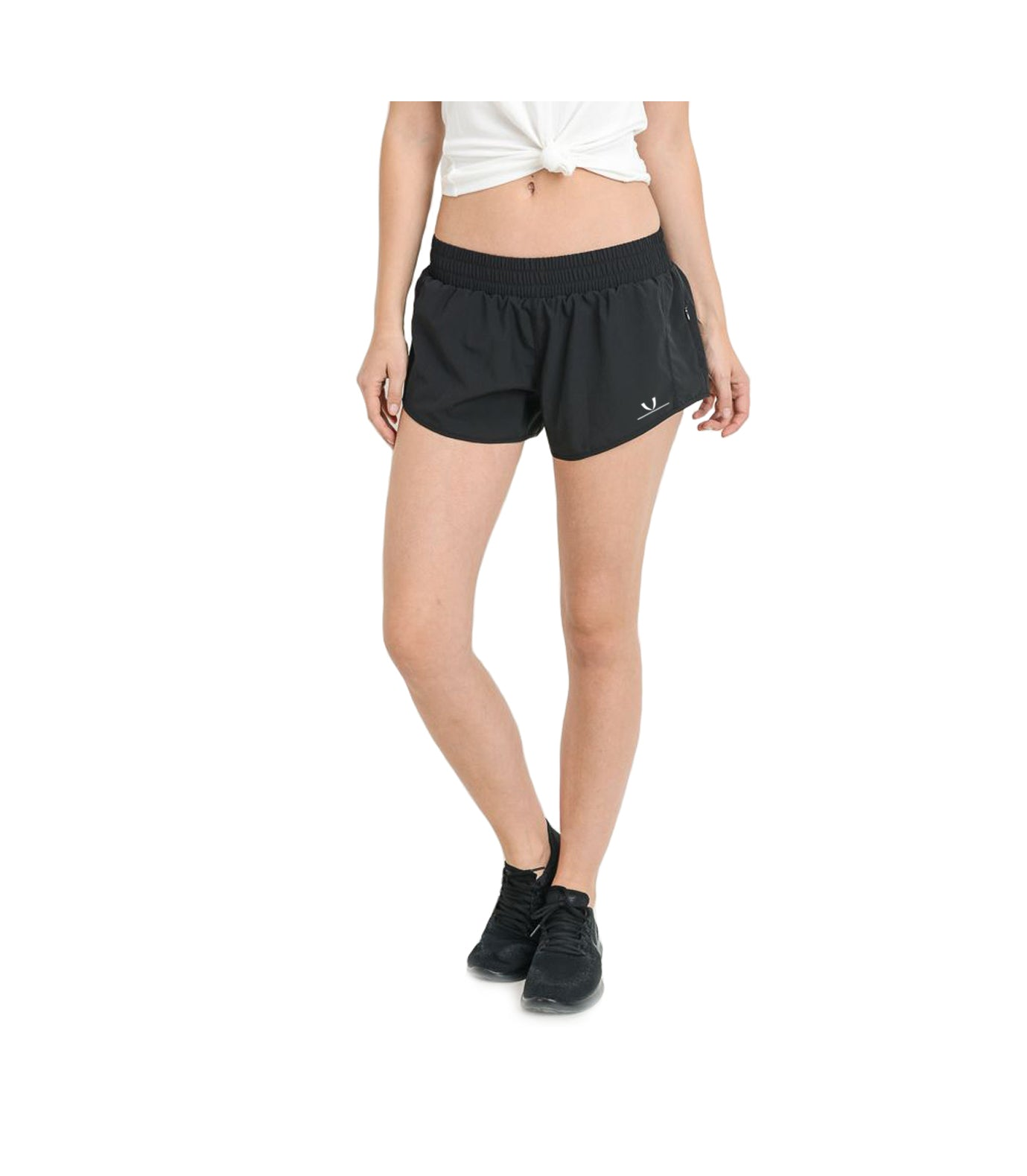 Gathered Dolphin Short Shorts