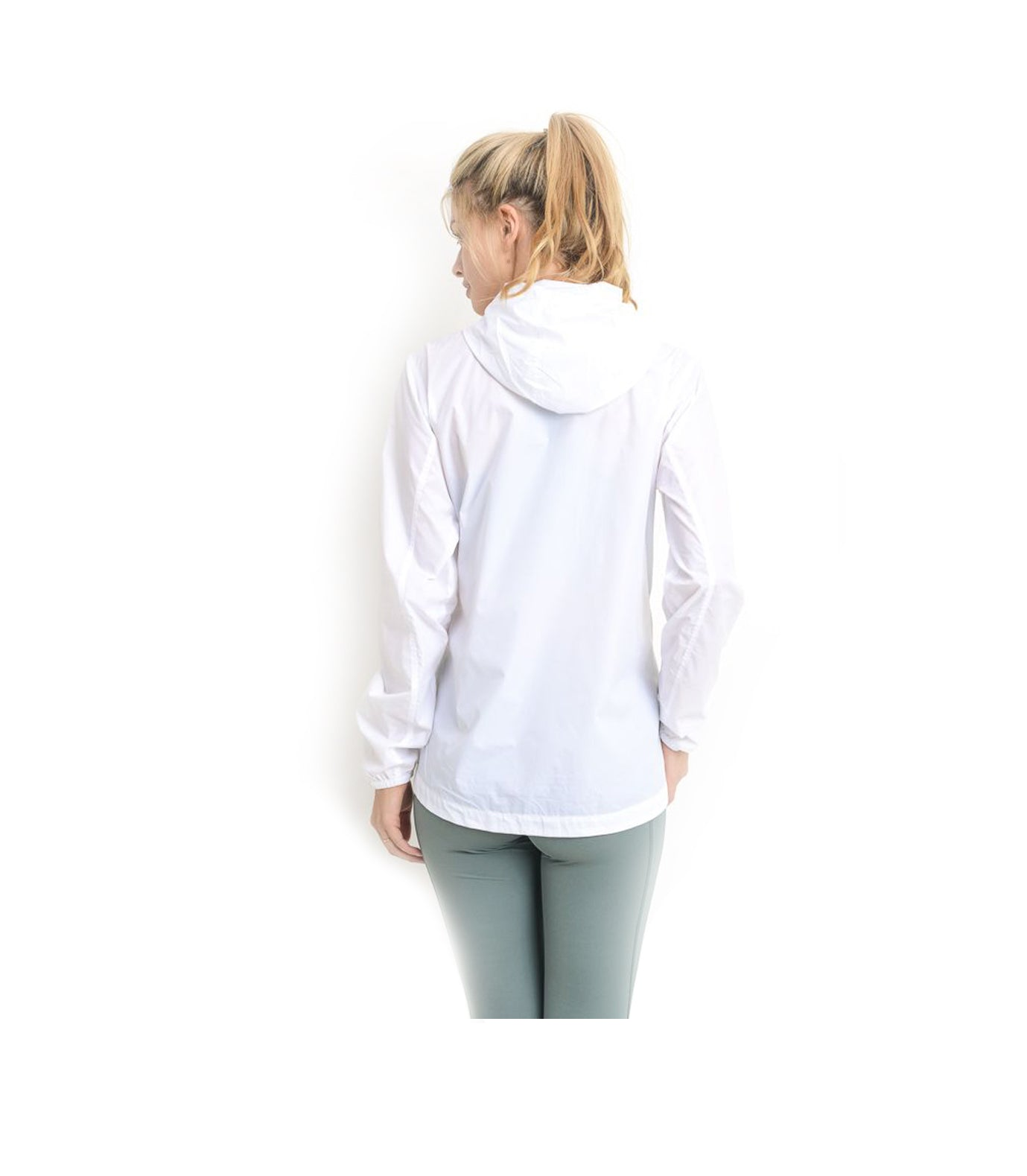 Womens Tech Rain Jacket White